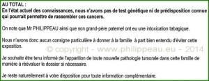 résultat oncogénétique