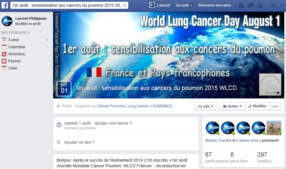 Journée Mondiale Cancer du Poumon - France 2015